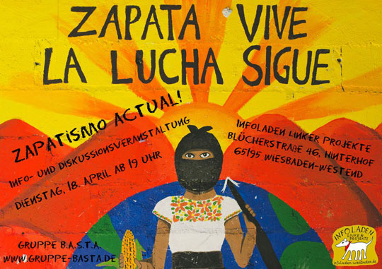 Wiesbaden 18.4.: ¡Zapatismo actual! Aktuelles zur Rebellion in Chiapas