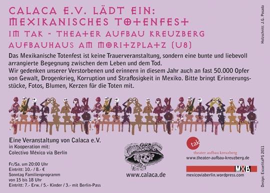 Veranstaltung in Berlin: Día de Muertos 2011 / Mex. Totenfest 2011