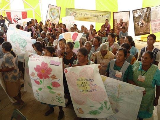 Frauenaktion bei der 6. Asamblea Nacional de Afectados Ambientales in Magdalena, Oaxaca 2010, notekallez, flickr