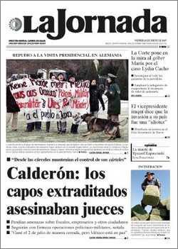 Titelseite der LaJornada