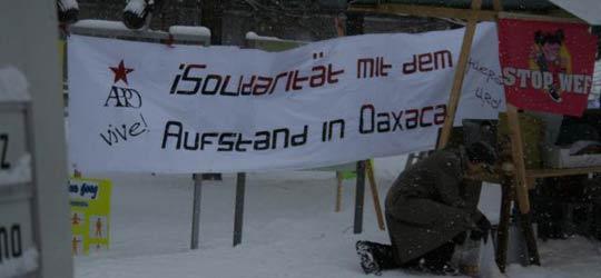 Protest in Davos