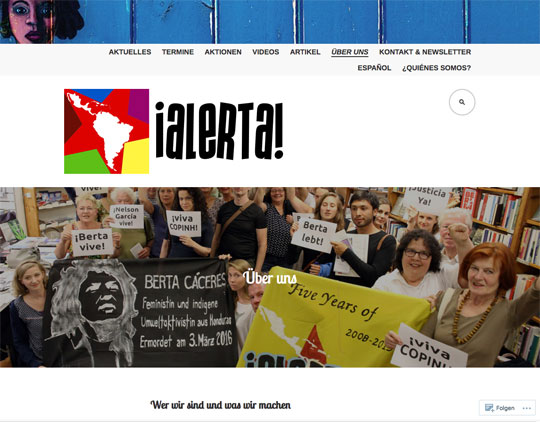 ¡Alerta! Neue Website