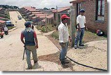 Bauarbeiten in der Ländlichen Stadt Nuevo Juan Grijalva