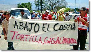 Demonstration der Bewegung gegen die hohen Strompreise, Tonalá