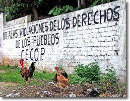»Nein zu den Verletzung der Rechte der Gemeinden, CECOP«